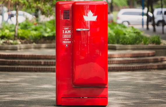 Molson Canadian Beer Fridge